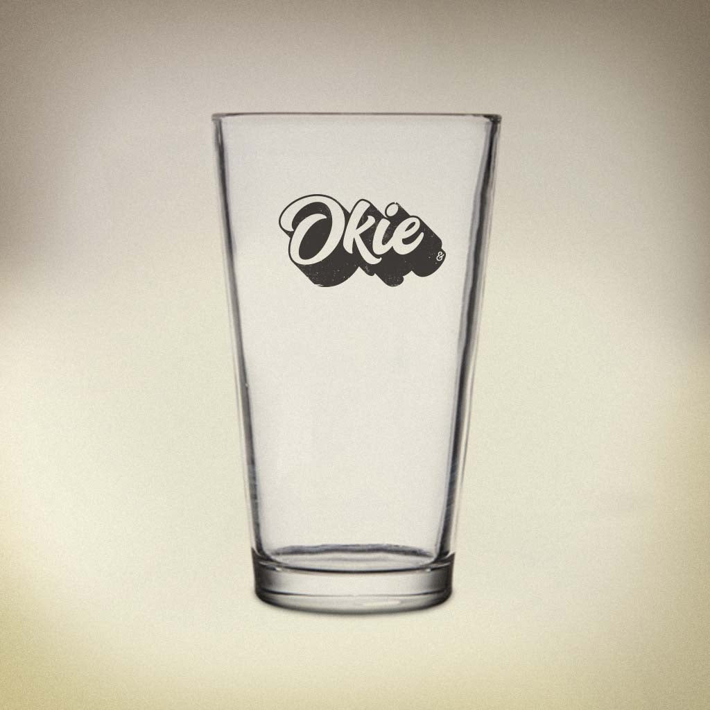Okie State Pride Pint Glass