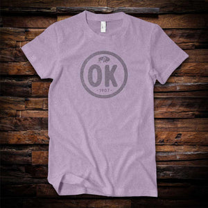 Lilac OK Stamp State Pride Tee