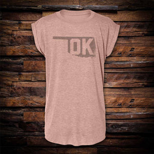 OK State Pride Rolled Cuff Tee