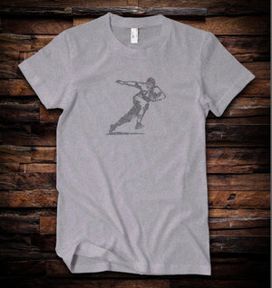 Football Player Tee Vintage Black
