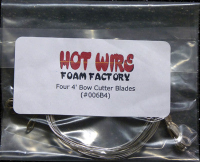 Four 4ft Bow Cutter Wires