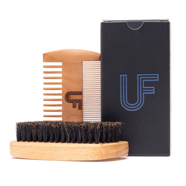 UF Beard Brush & Comb Combo