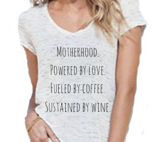 Motherhood Powered By Love Fueled by Coffee Sustained by Wine
