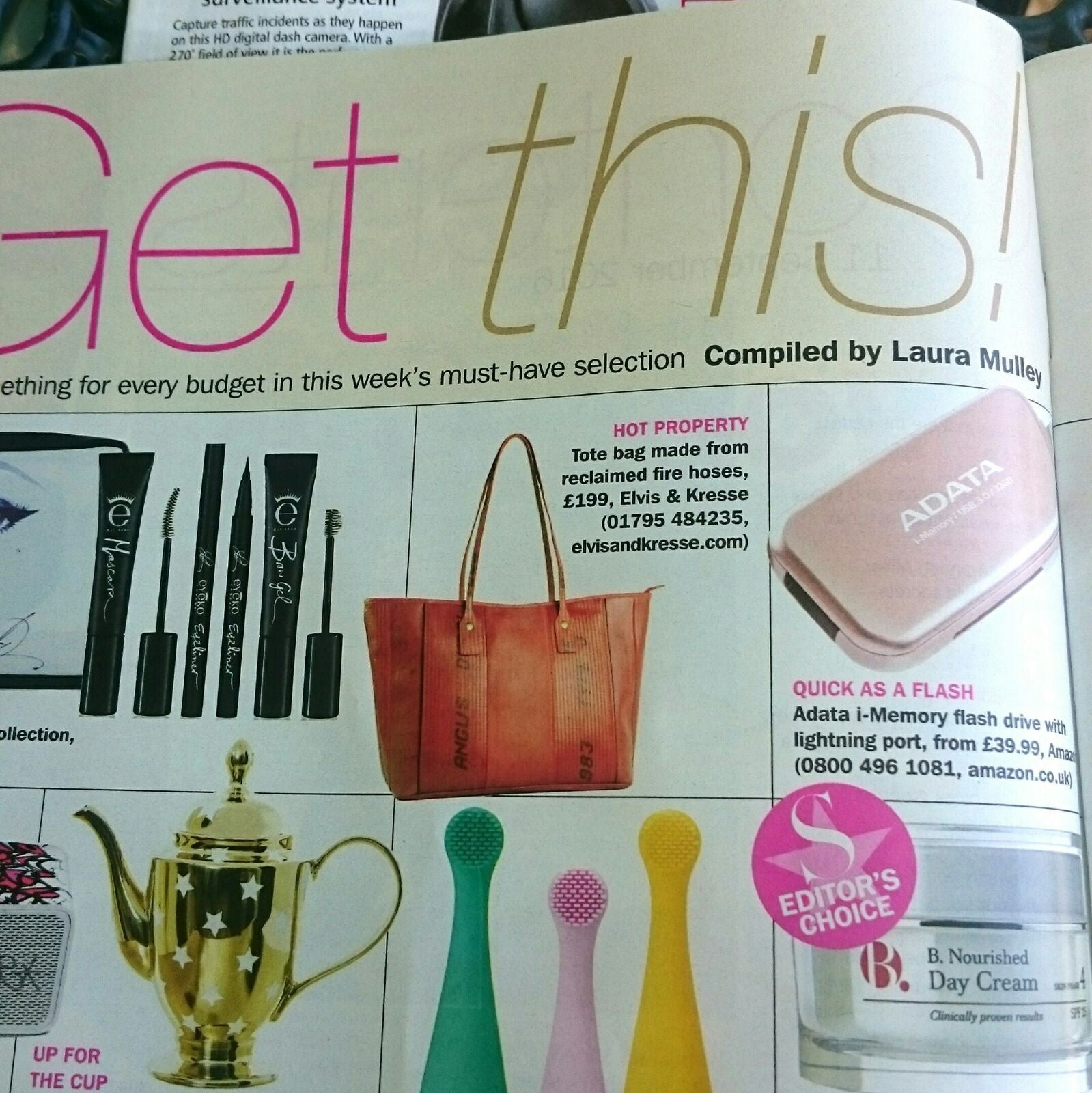 S Magazine Features Elvis & Kresse Tote