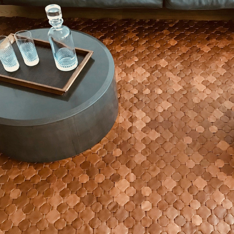 Handwoven Luxury Leather Rug - Elvis & Kresse