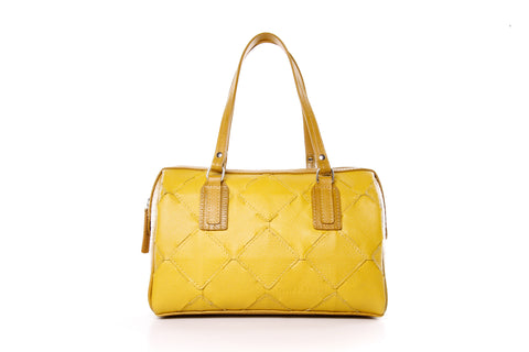 Bright Yellow Leather Handbag - Elvis & Kresse
