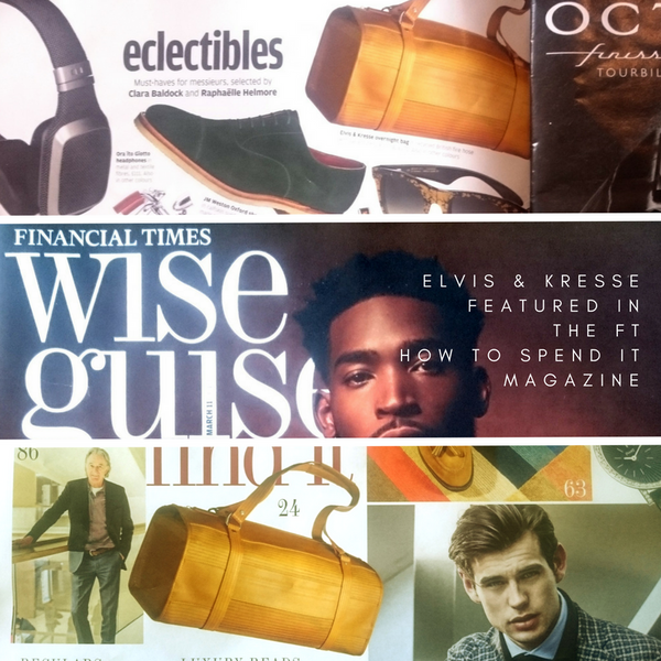 Elvis & Kresse featured in How To Spend It magazine, the Financial Times weekend edition.