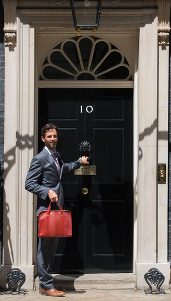 Elvis & Kresse Compact Briefcase at Downing Street