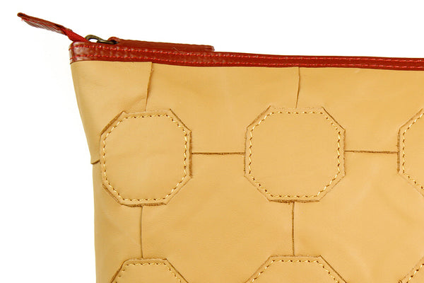 Elvis & Kresse Cosmetics Case - Close up on hand-woven leather