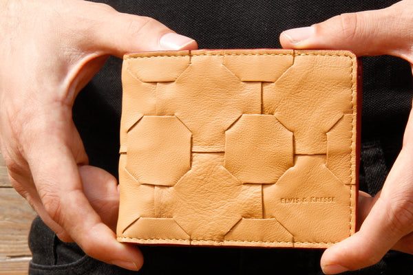 Fire & Hide Wallet - Reclaimed Leather and Fire-hose