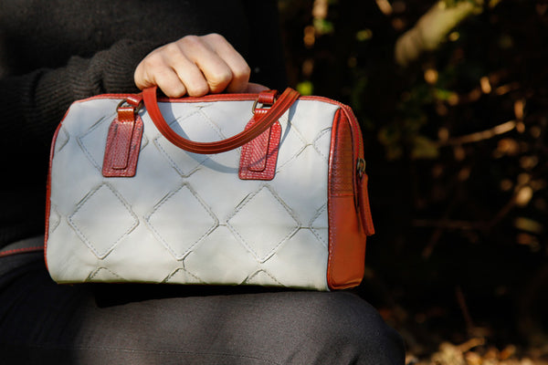 The Post bag by Elvis & Kresse in Fire & Hide
