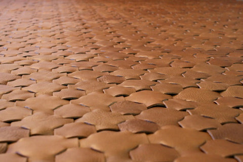 Handmade Caramel Leather Rug - Elvis & Kresse