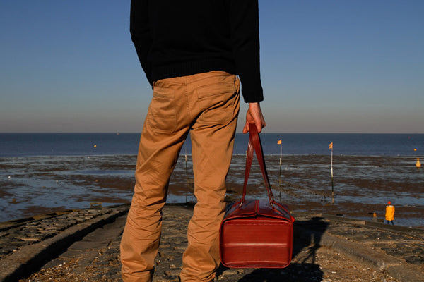 Elvis & Kresse Overnight bag - Whitstable Beach