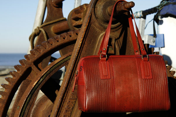 Handmade sustainable luxury bag - Elvis & Kresse