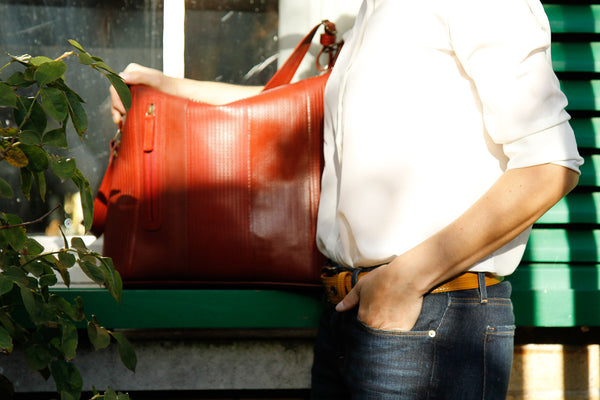 Elvis & Kresse's reclaimed fire-hose Tooley Tote