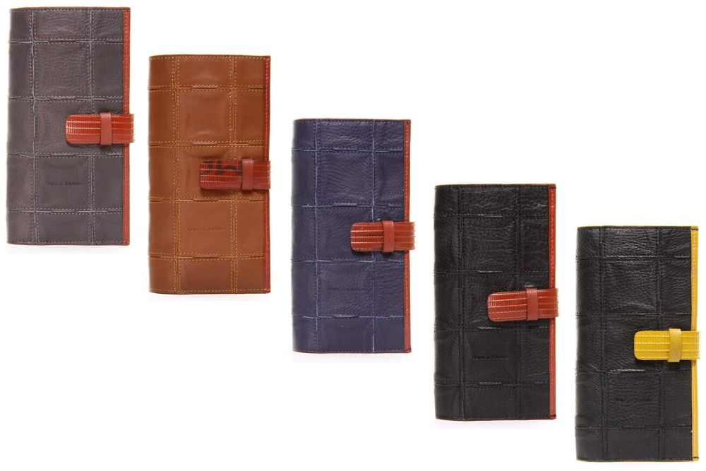 Elvis & Kresse Travel Wallet, made from reclaimed leather and fire-hose