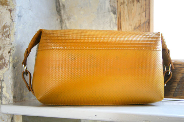 Elvis & Kresse Washbag - Yellow decommissioned hose
