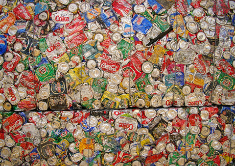 Crushed Aluminium Cans - Elvis & Kresse