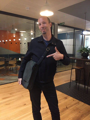 CoGo Founder Ben Gleisner and his Sustainable Messenger Bag