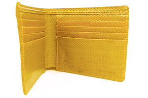 Elvis & Kresse Billfold Wallet - Rare Yellow Hose
