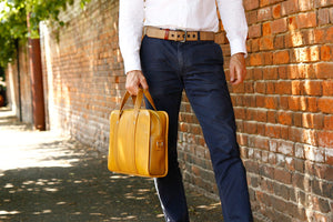 Elvis & Kresse decommissioned fire-hose compact briefcase