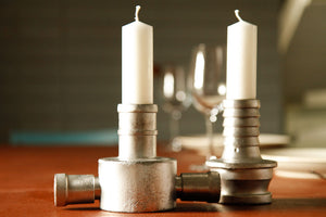 Fire-hose Coupling Candlesticks - Elvis & Kresse