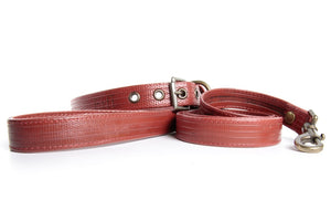 Fire-hose Dog Collar and Lead - Elvis & Kresse