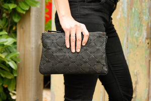Black LIVARI Clutch Bag - Elvis & Kresse