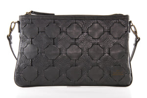 Black Rescued Burberry Leather Clutch Bag - Elvis & Kresse