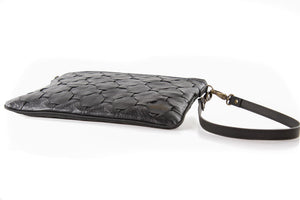 Black Burberry Leather Clutch Bag - LIVARI - Elvis & Kresse