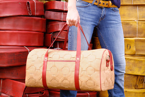 Elvis & Kresse Duffel Bag made from reclaimed leather and fire-hose