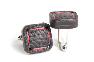 Black Fire& Hide cufflinks by Elvis & Kresse