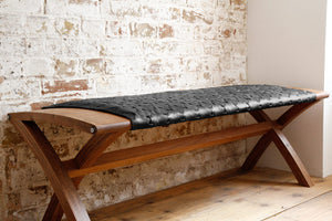 Beam Bench in Black - Elvis & Kresse - Katie Walker
