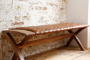 Beam Bench in Caramel - Elvis & Kresse - Katie Walker