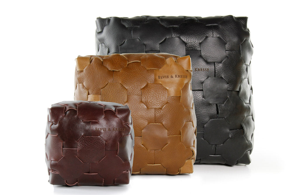 Leather Cube, Building Materials by Elvis & Kresse