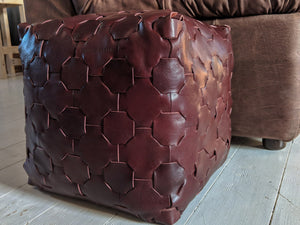 Elvis & Kresse Reclaimed Leather Cube - Large