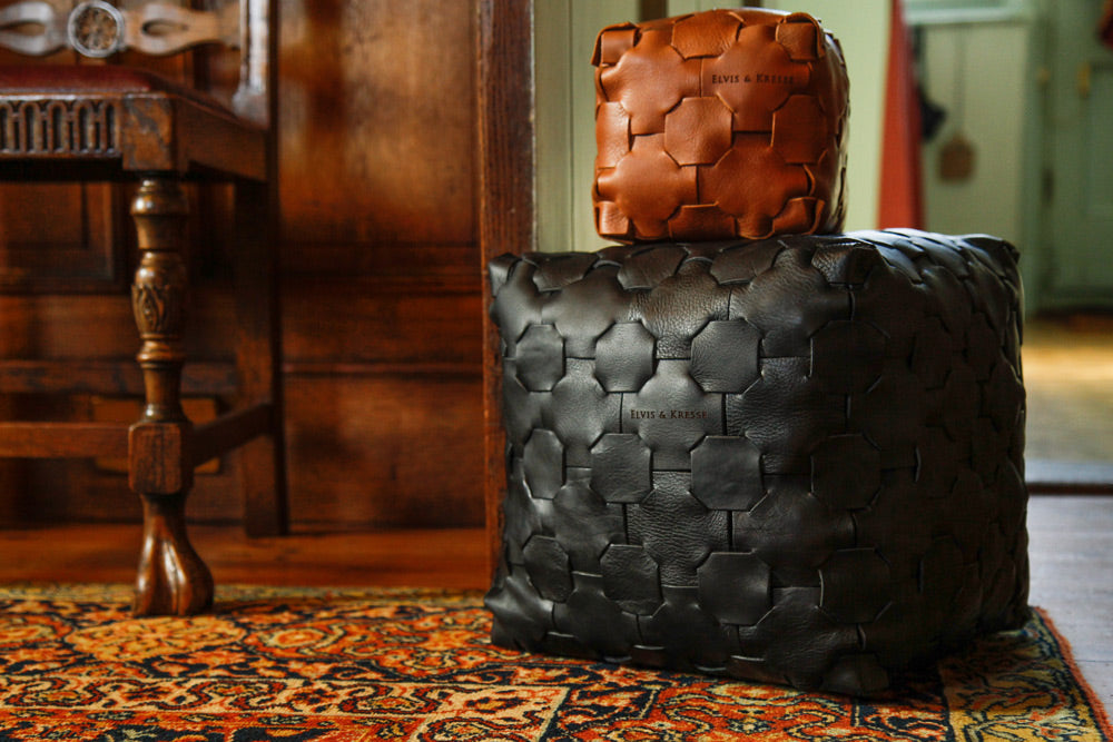 Elvis & Kresse Leather Cubes, made from reclaimed leather