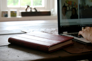 Elvis & Kresse Notebook made from reclaimed red fire-hose