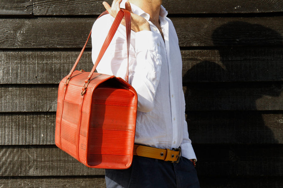 Elvis & Kresse Overnight Bag - reclaimed fire-hose