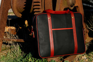 Elvis & Kresse Soft Briefcase made from reclaimed Printing Blanket