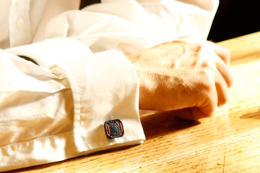 Sustainable luxury cufflinks by Elvis & Kresse