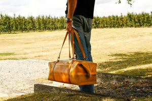 Elvis & Kresse Weekend Bag - Yellow fire-hose