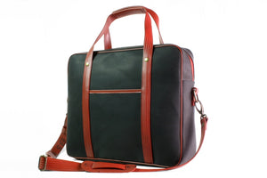 Elvis & Kresse Soft Briefcase, Black and Red