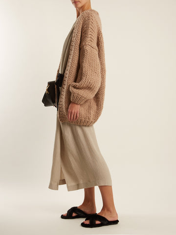MATCHES FASHION The Cardigan balloon-sleeved wool cardigan