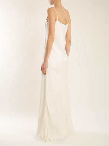THE ROW Ebbons round-neck silk gown