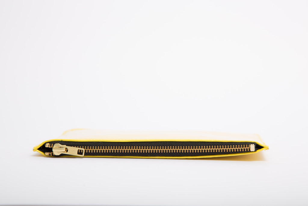 Yellow Patent Envelope Clutch
