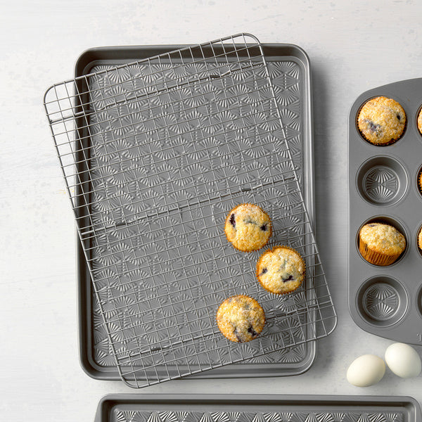 cooling rack and baking sheet lifestyle