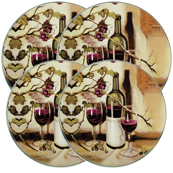 5000 - Ripe From The Vine - 4 Pack Licensed Round Burner Kover Set 2 Small/2 Large (c) Theresa Kasun