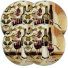 5000 Ripe From The Vine 4-Pack Licensed Round Burner Cover Set (c) Theresa Kasun