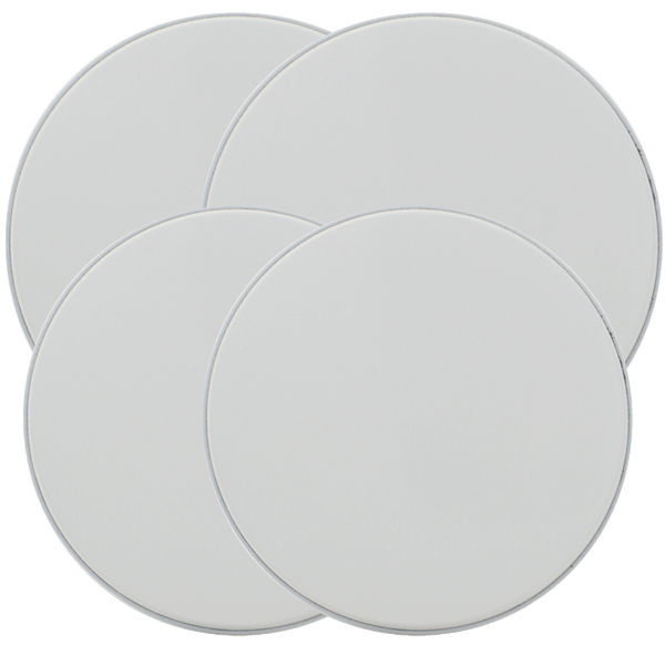 501 4-Pack Round White Burner Cover Set Range Kleen